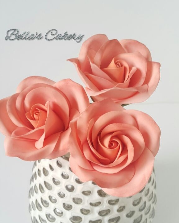 Peach gum paste Sugar flowers