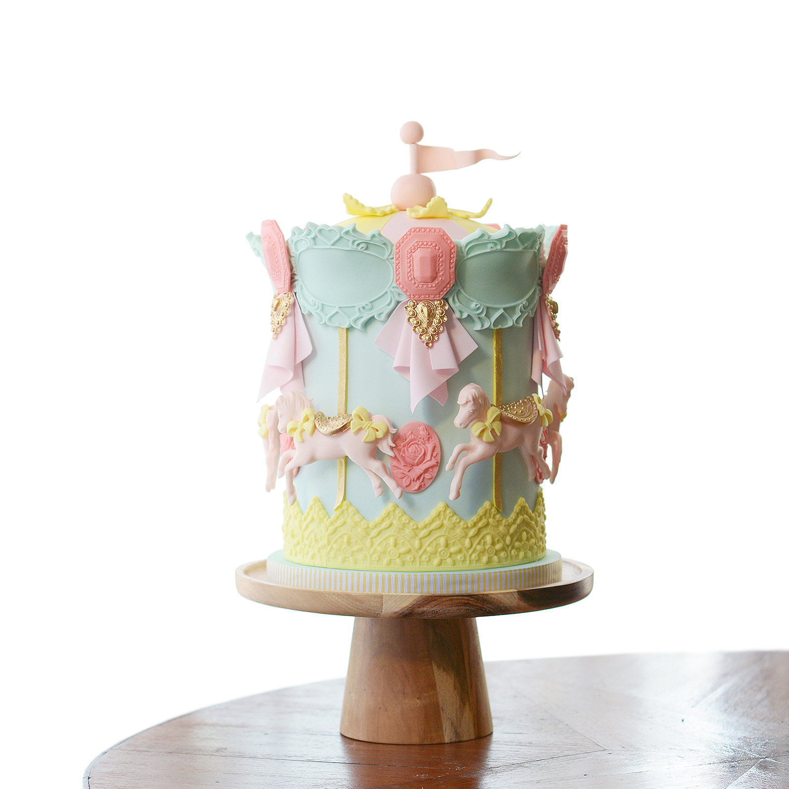 Mini carousel birthday cake
