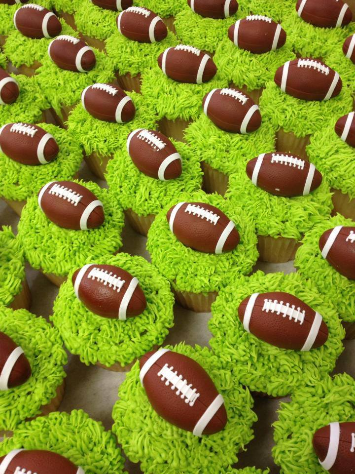 fondant Football Cupcake Toppers