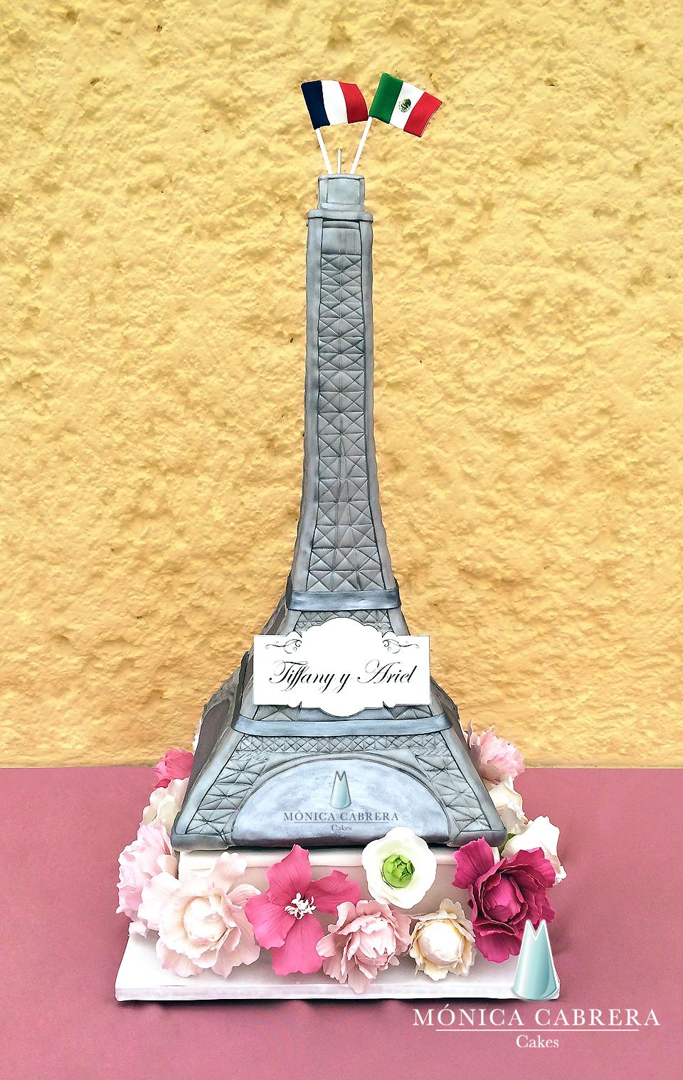 Parisian Eifel Tower fondant cake