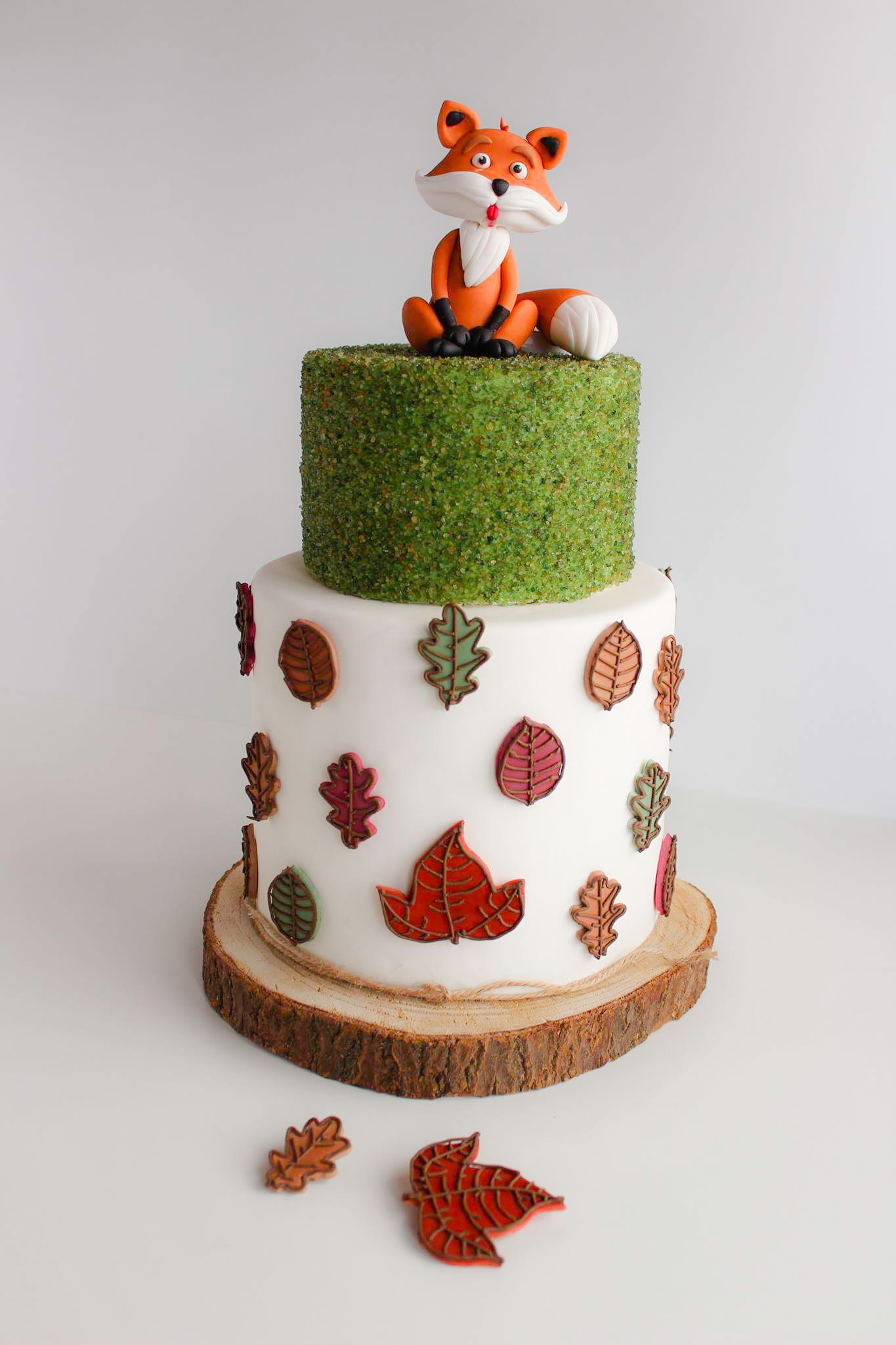 Woodland Fox Birthday Cake