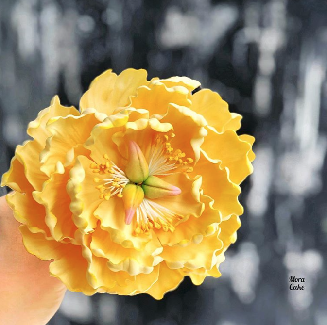 Yellow sugar flower