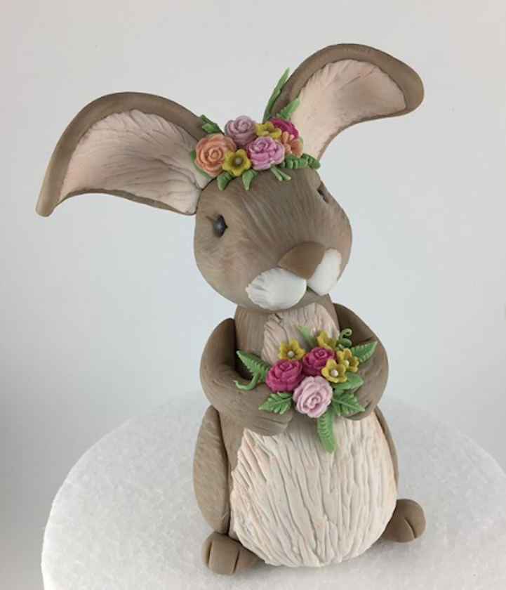 Boho bunny cake topper