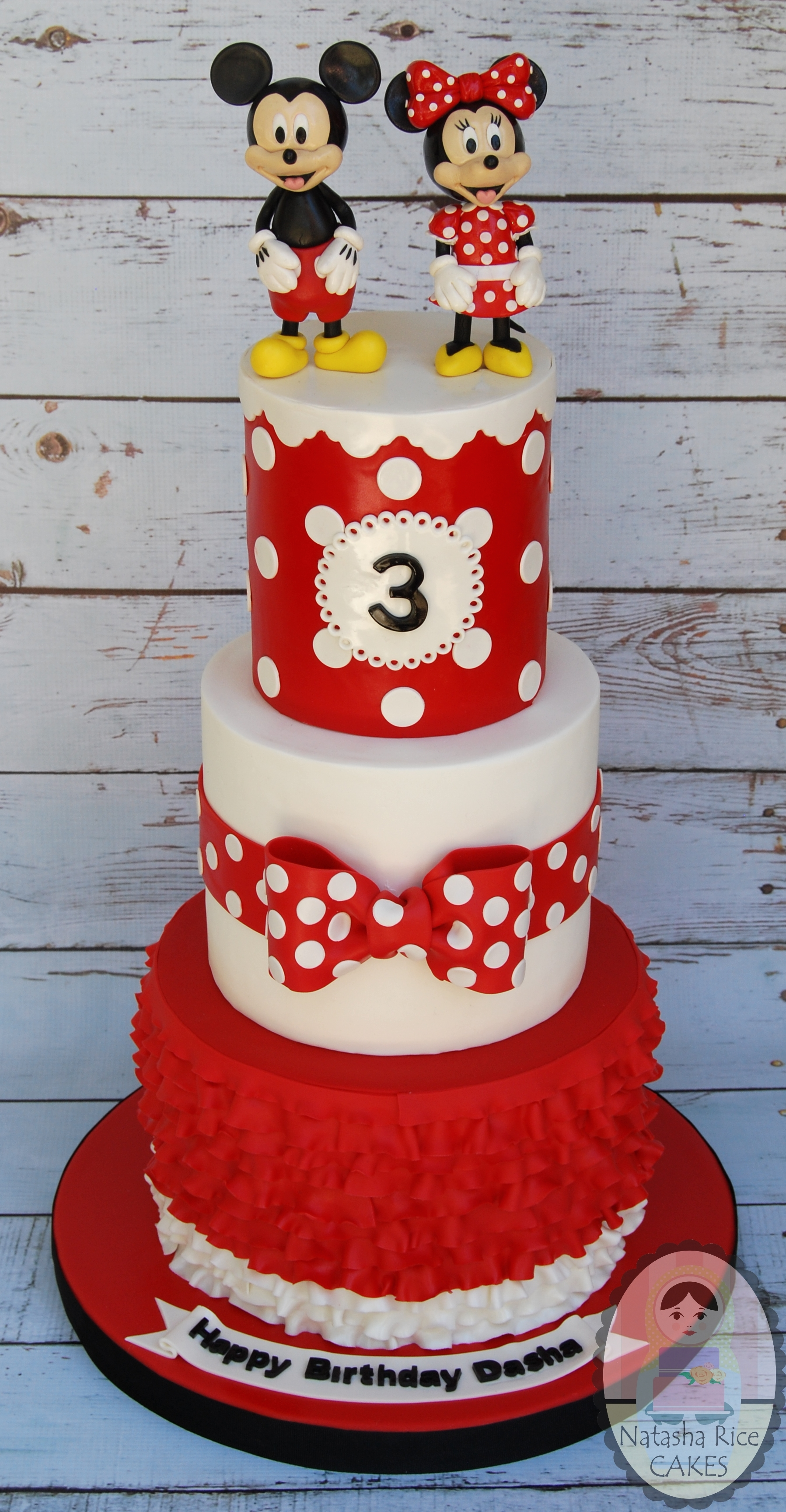 Red & White Mickey and Minnie Birthday