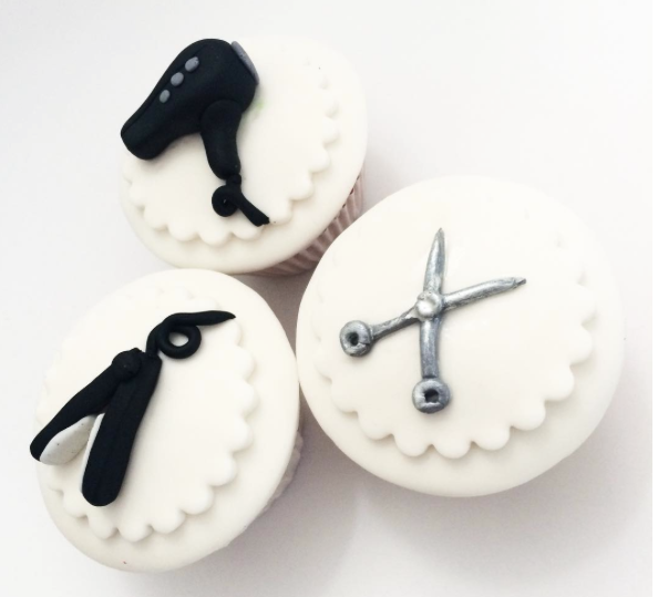 Hairdresser cupcake toppers