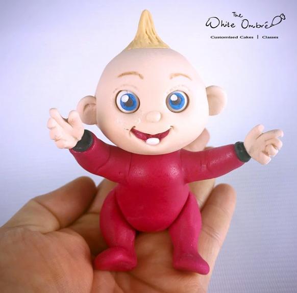 Incredible baby fondant figurine