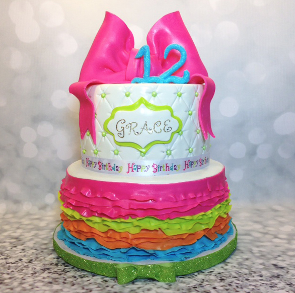 Rainbow Ruffle Birthday