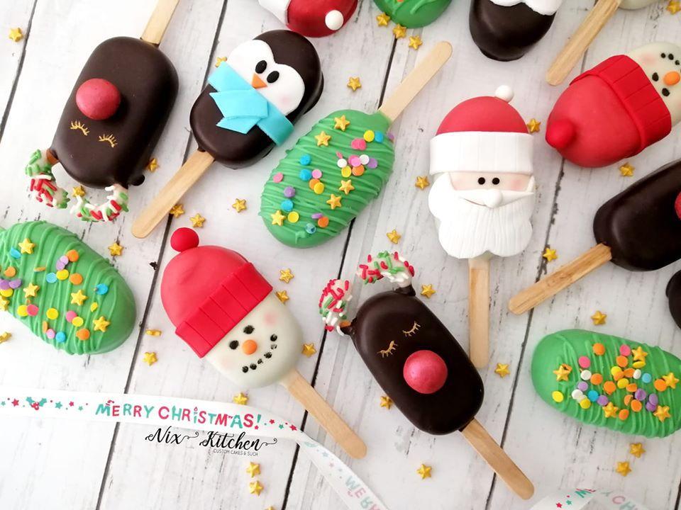 Christmas Cakesicles
