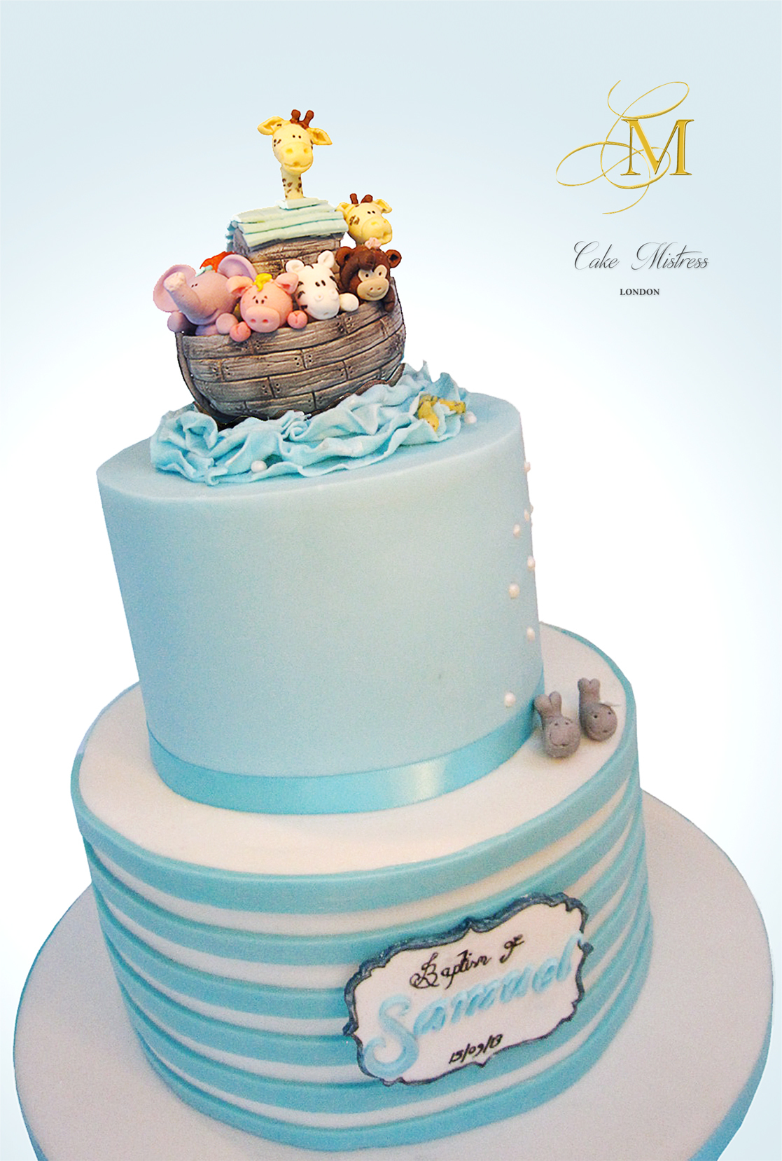 Noah's arc baby cake