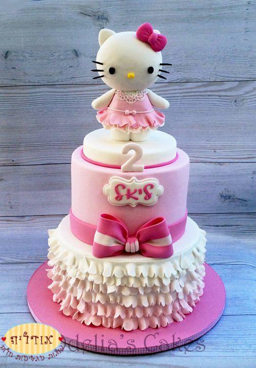 Hello Kitty Themed Birthday Cake