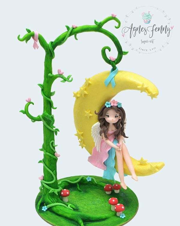 Enchanted fairy fondant figurine