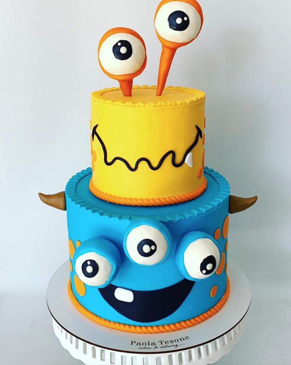 Funny Monster birthday cake