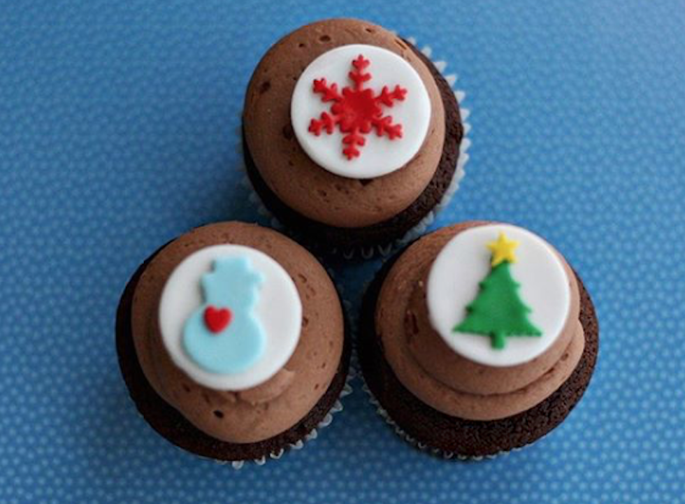 Collection of Christmas Cupcakes