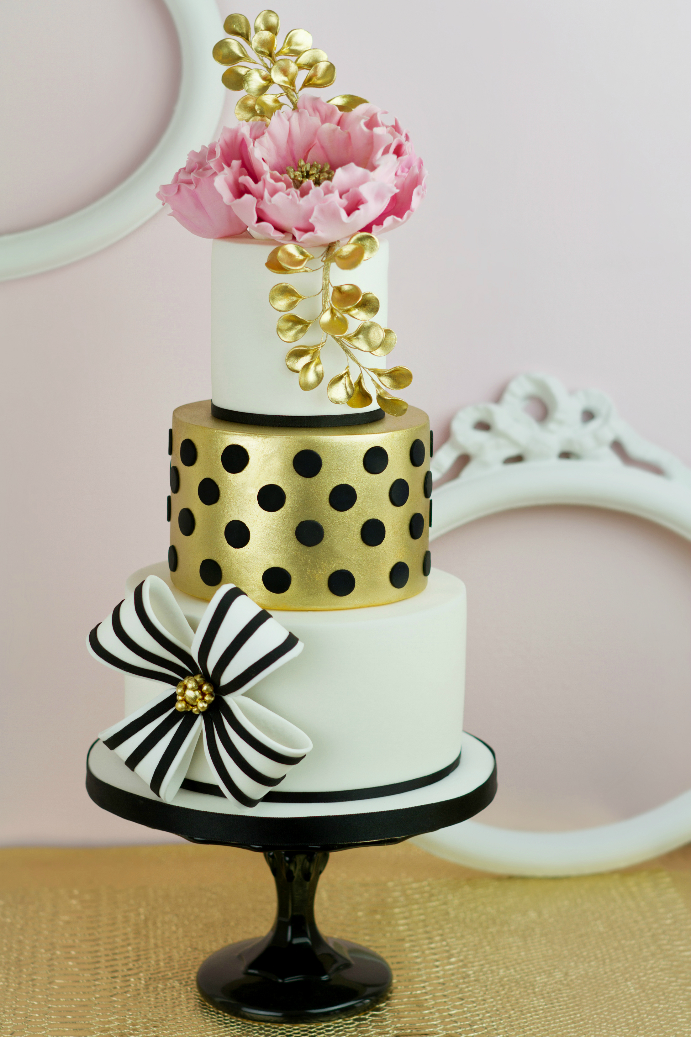 Gold & Black Polka Dot Wedding