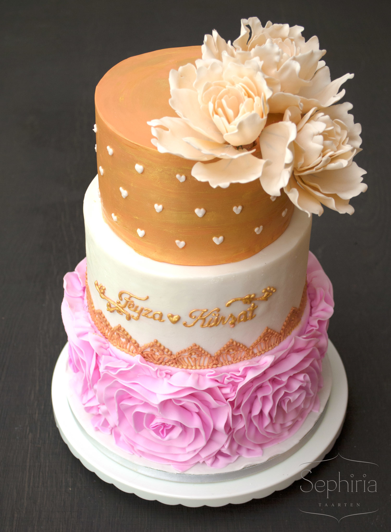 Gold & Pink Wedding