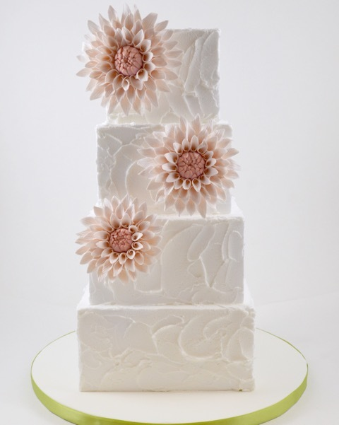 White Wedding with Dahlia Sugar Flowers
