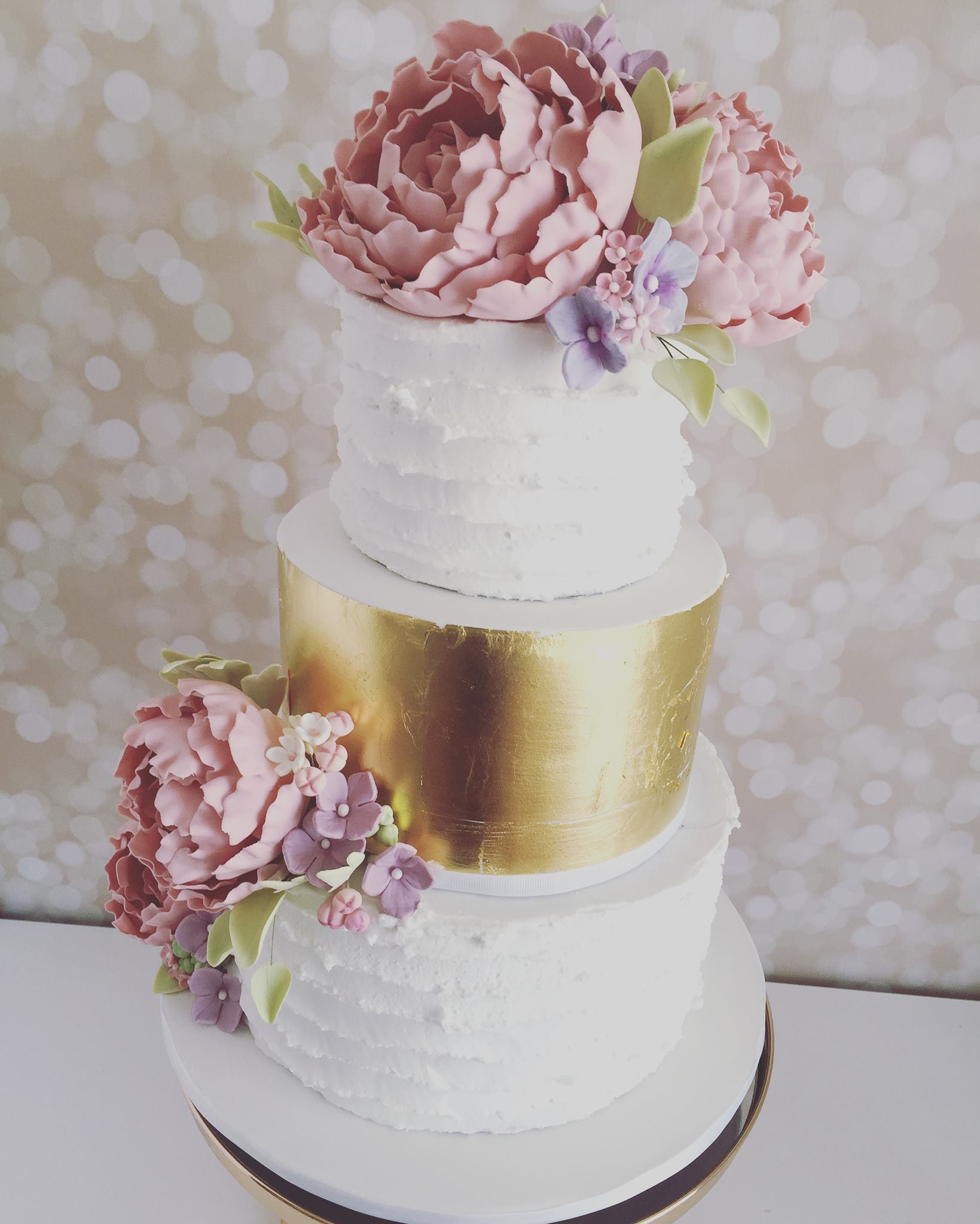 Gold & White Ruffle Wedding