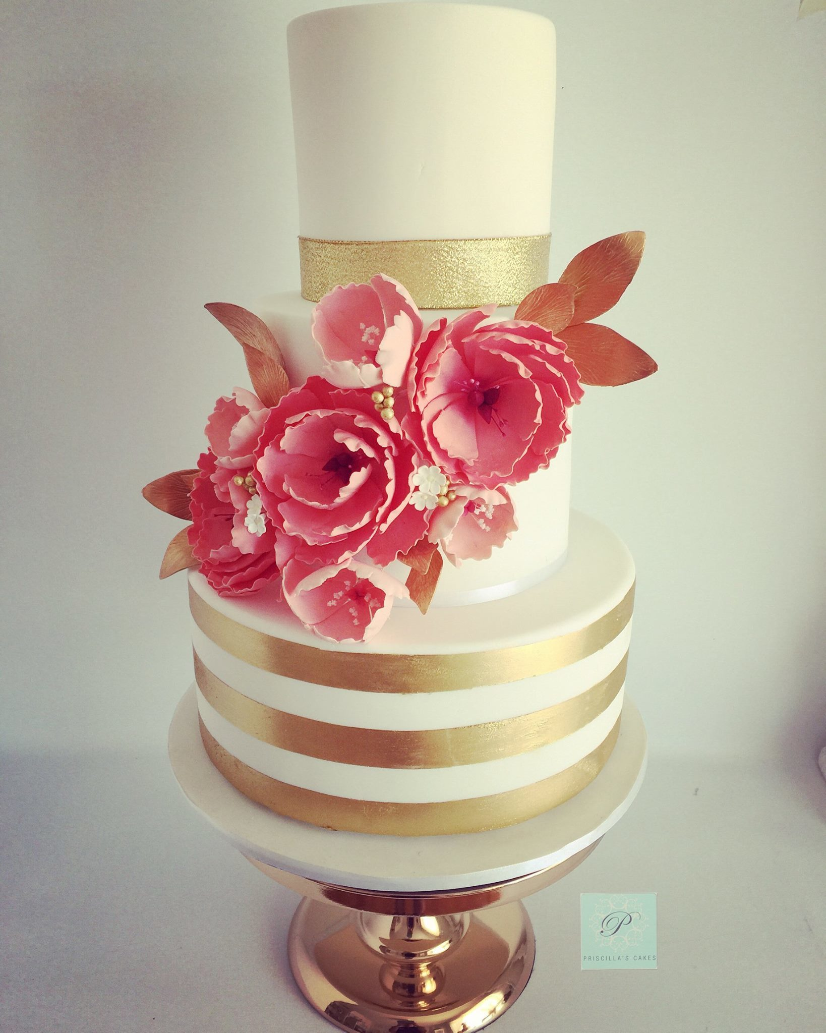 Gold & Ivory Striped Wedding