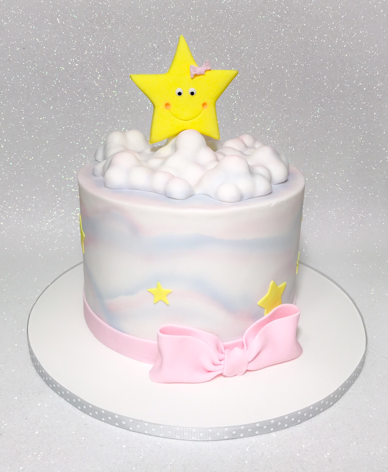Mini star themed baby cake