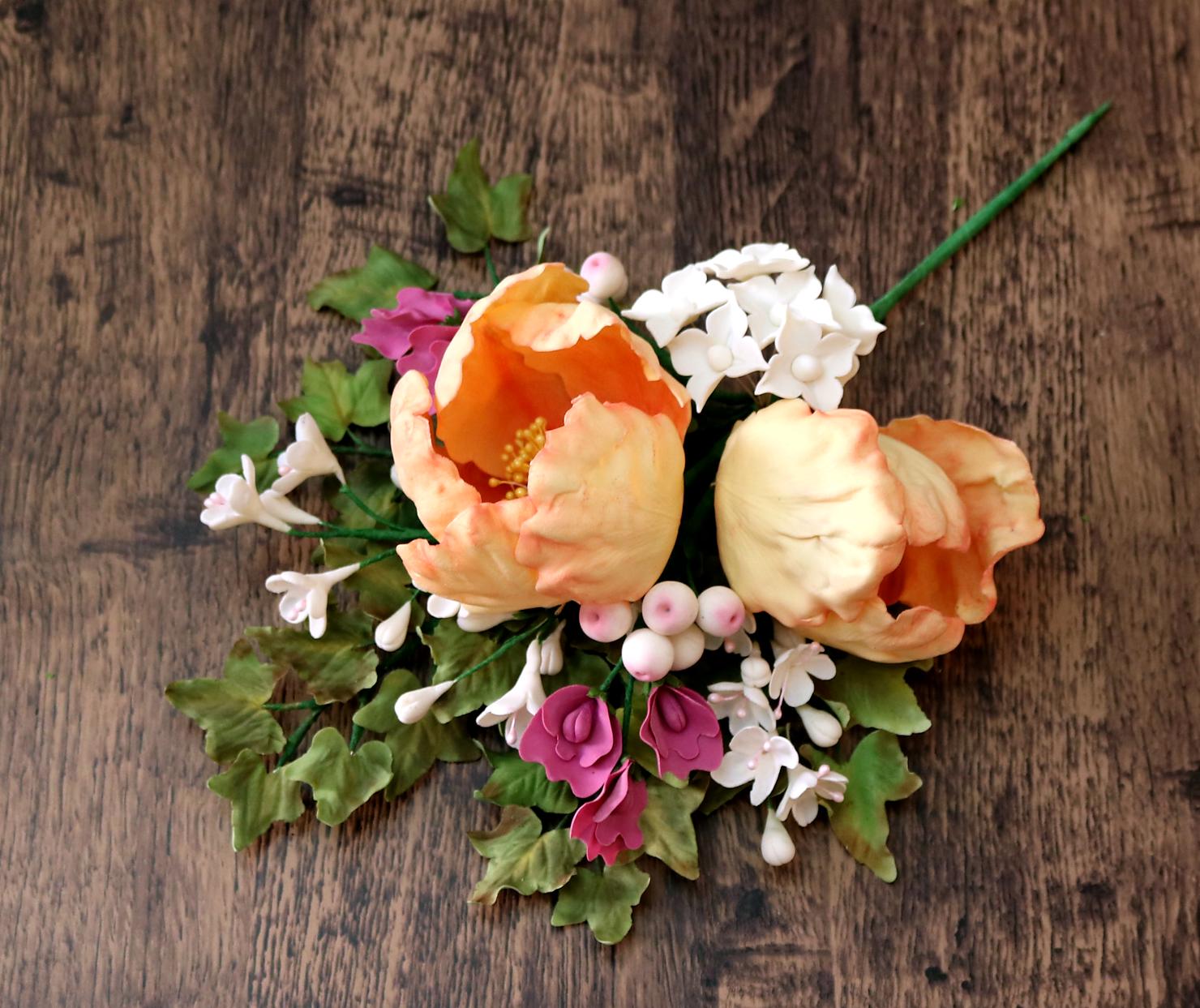 Orange sugar roses