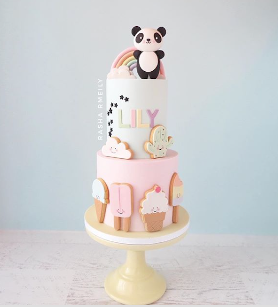 Ice cream themed birthday cake