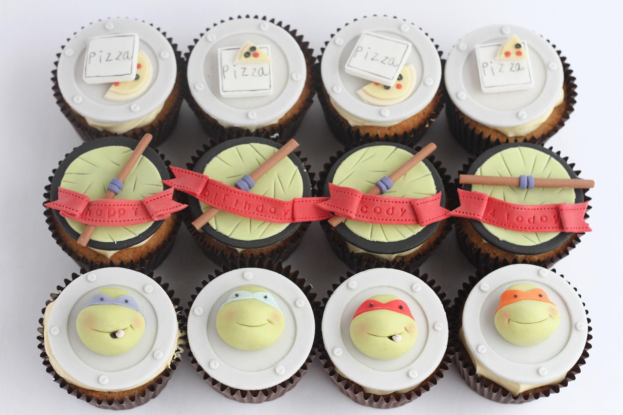 Ninja Turtle Birthday Cupcakes