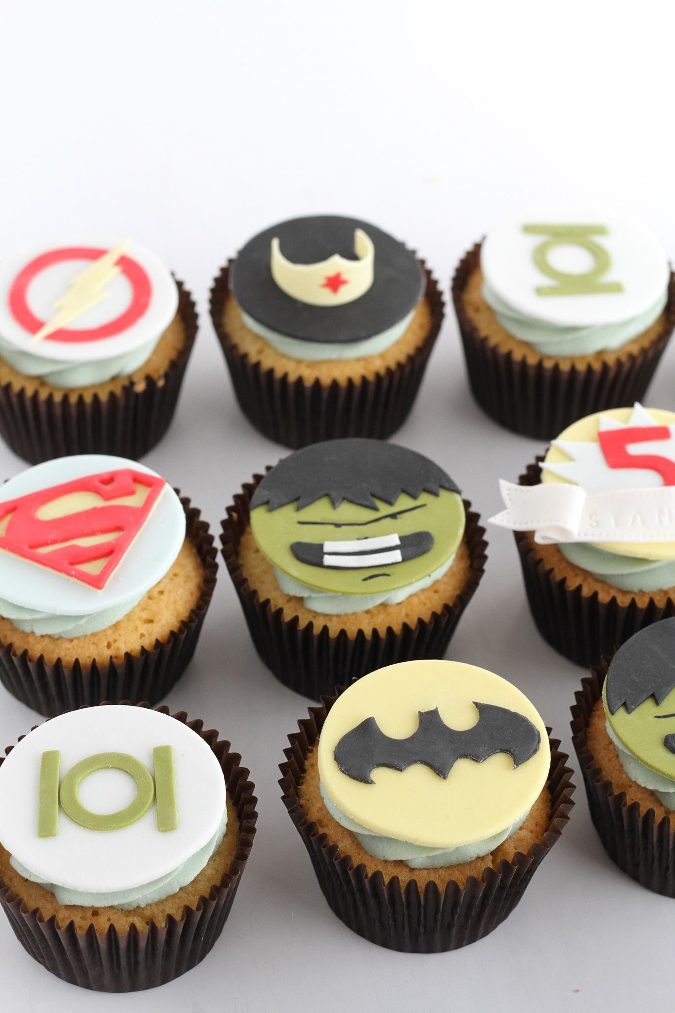 Superhero Boys Birthday Cupcakes