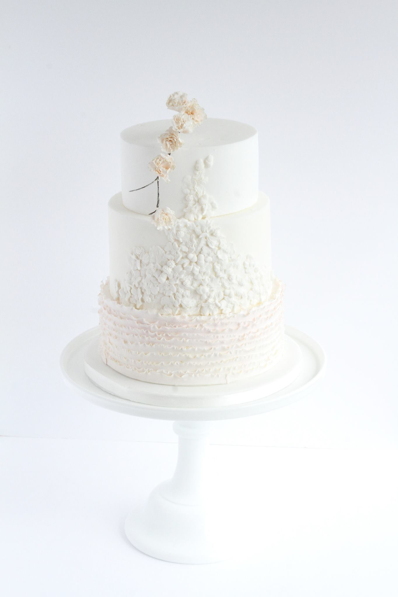 White and Light pink ombre wedding