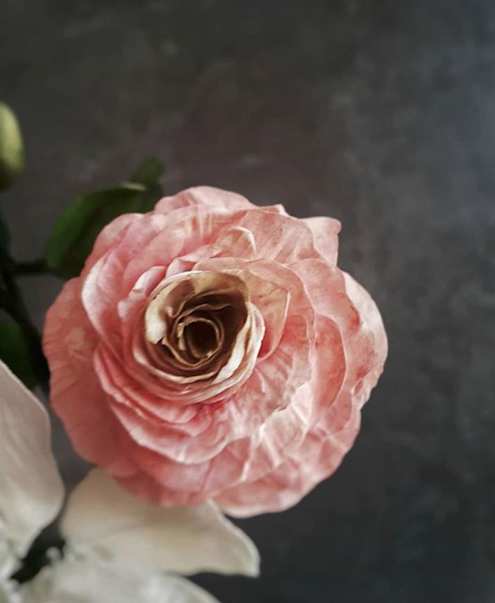 Pink sugar flower