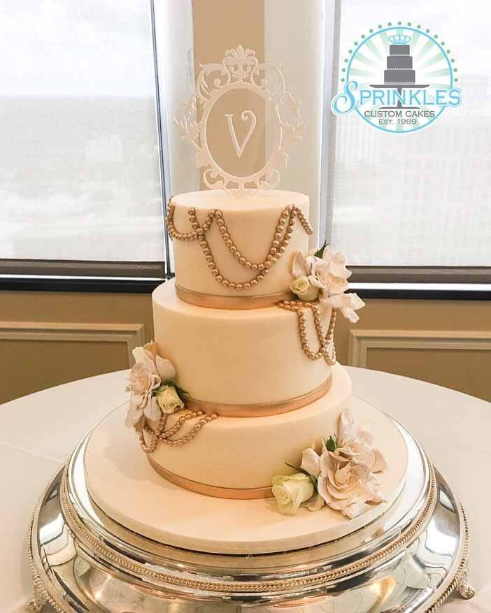 White Wedding with Pearls