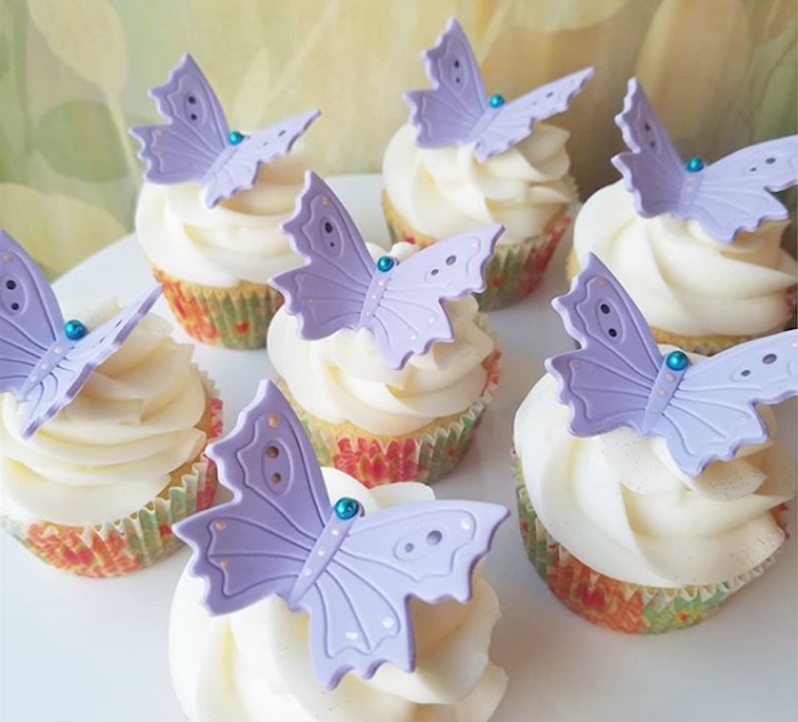 Fondant butterfly cupcake toppers
