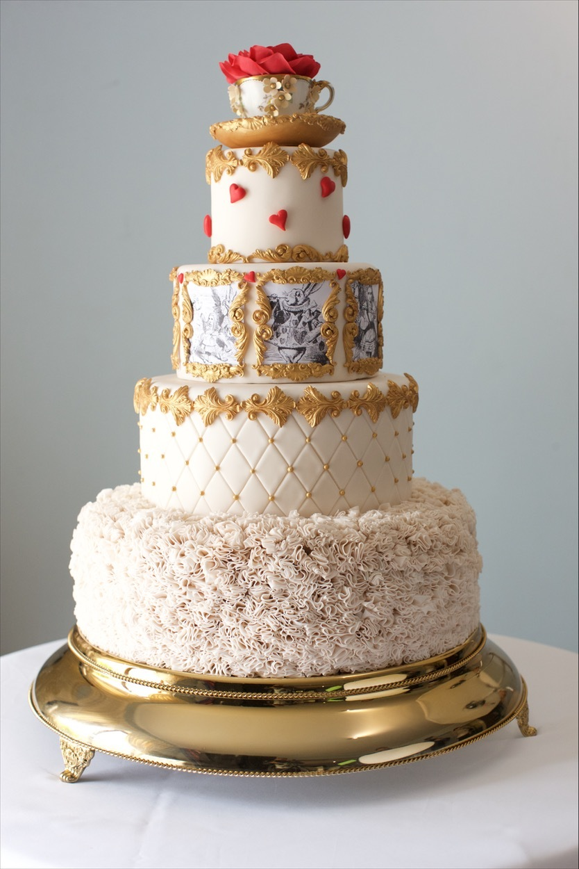 Alice in Wonderland fondant Wedding cake