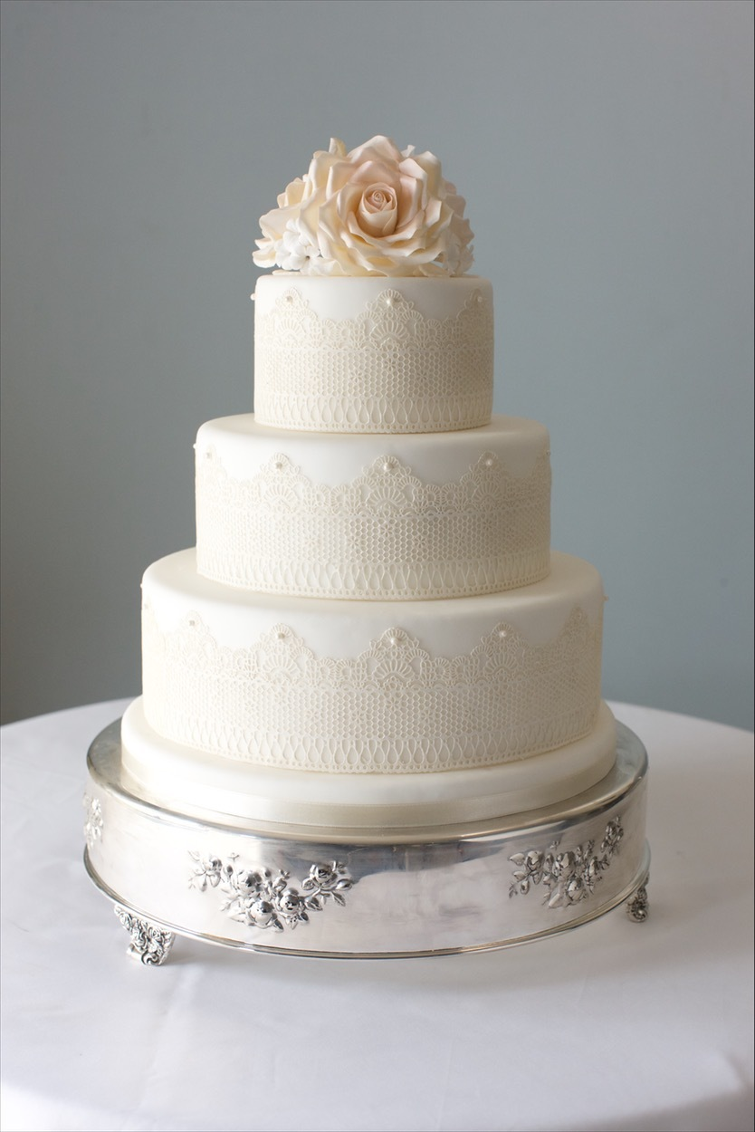 Ivory Wedding with lace
