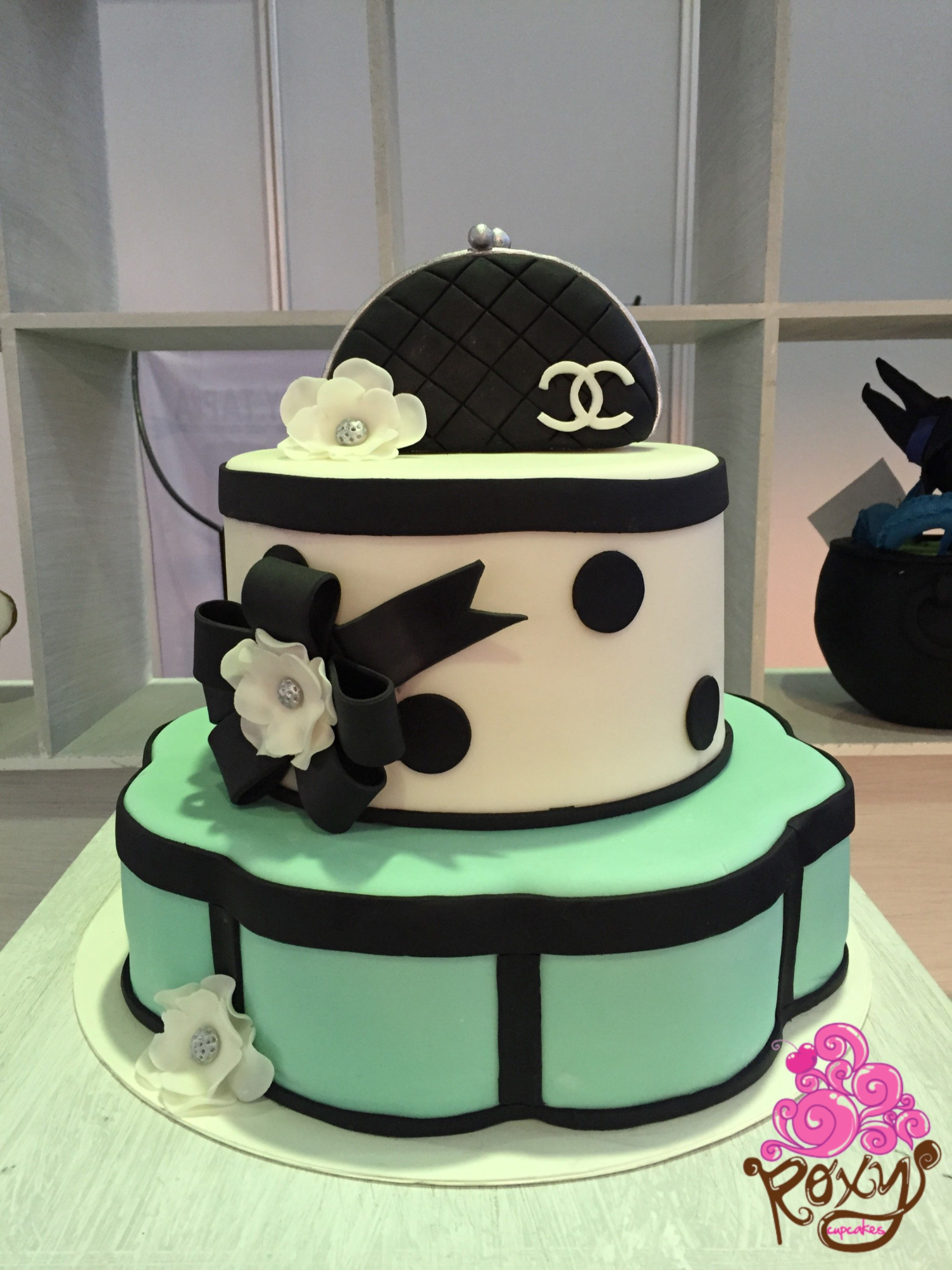 Chanel themed handbag birthday cake