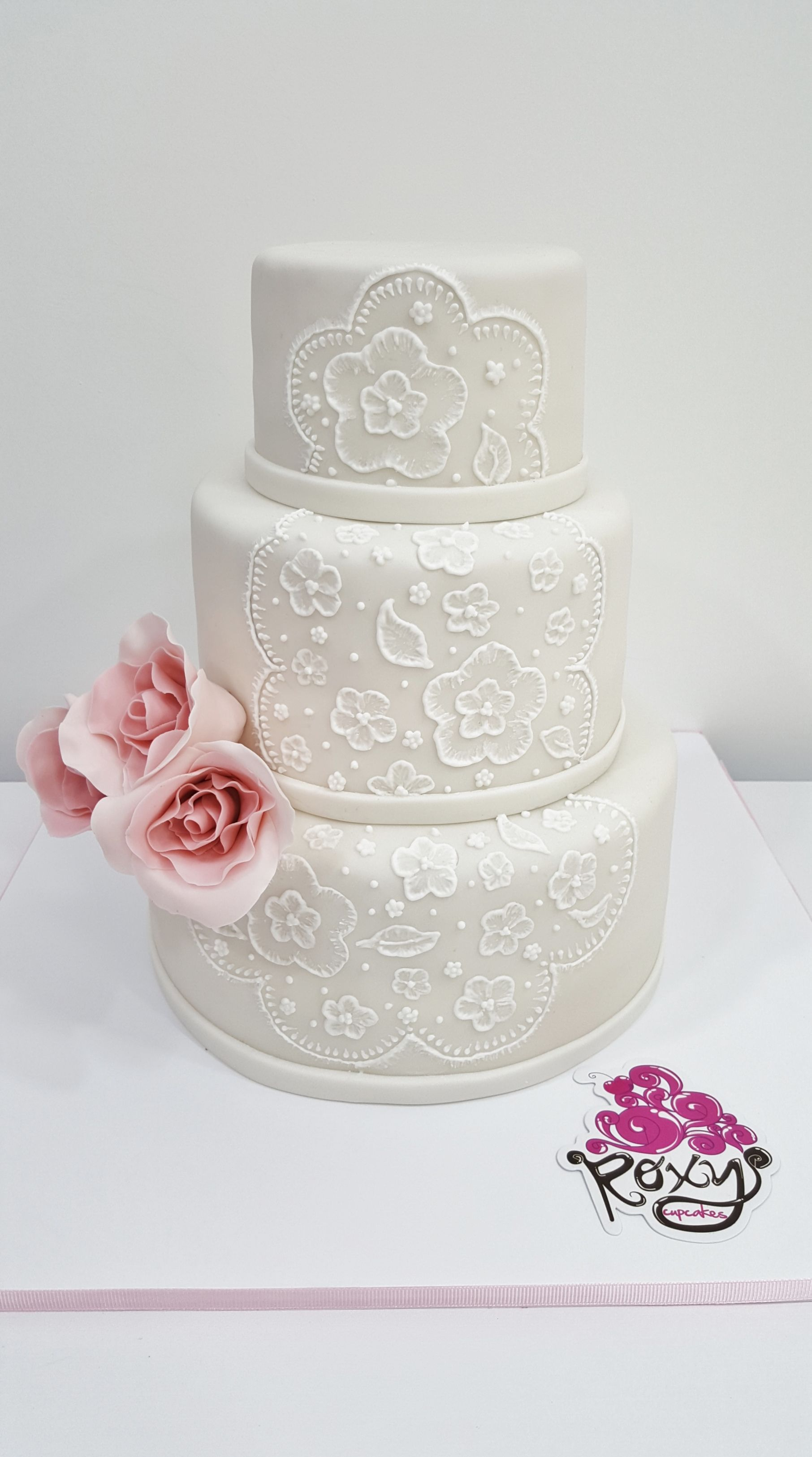 White lace wedding