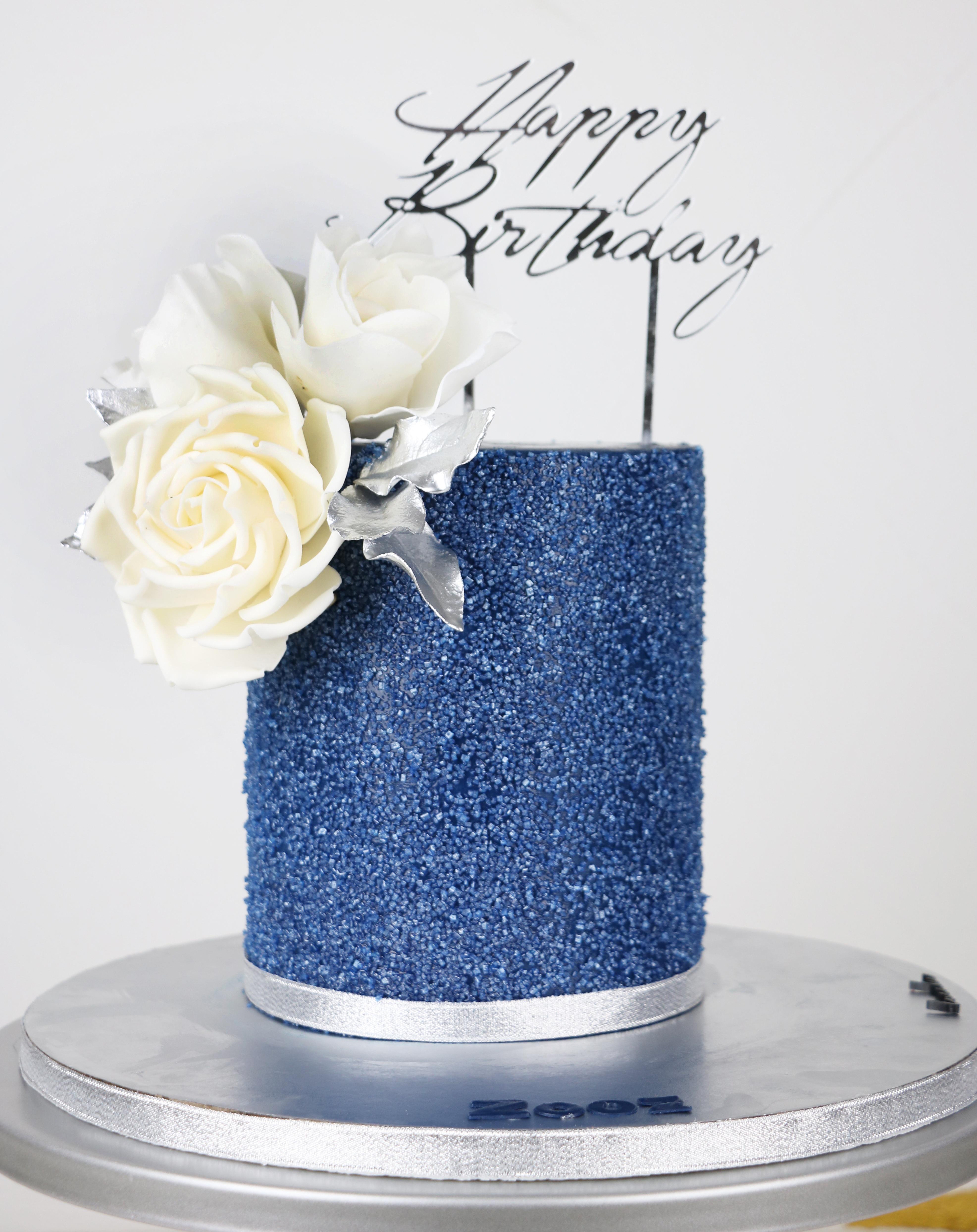 Navy glitter birthday
