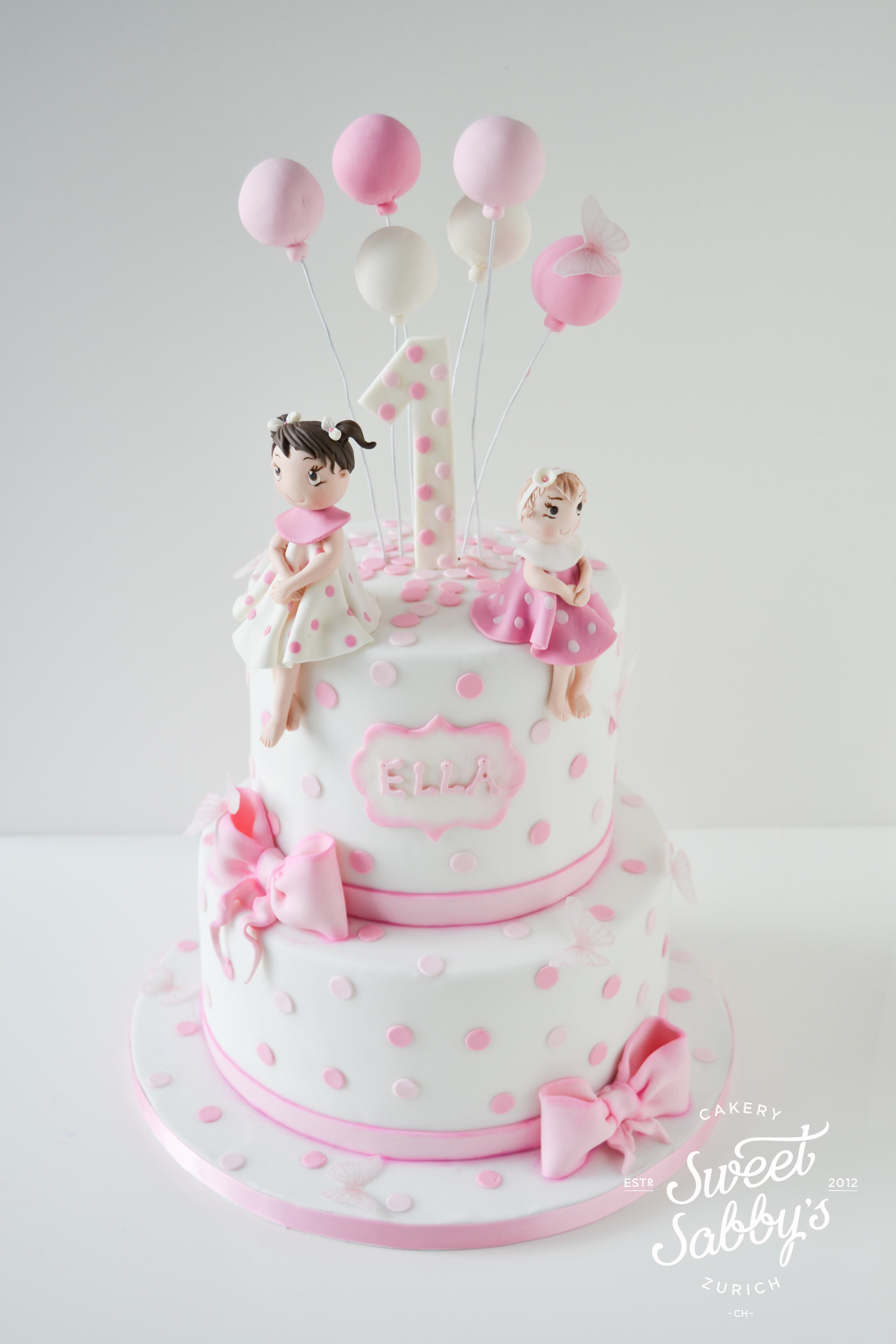 Pink & white Polka Dot Birthday