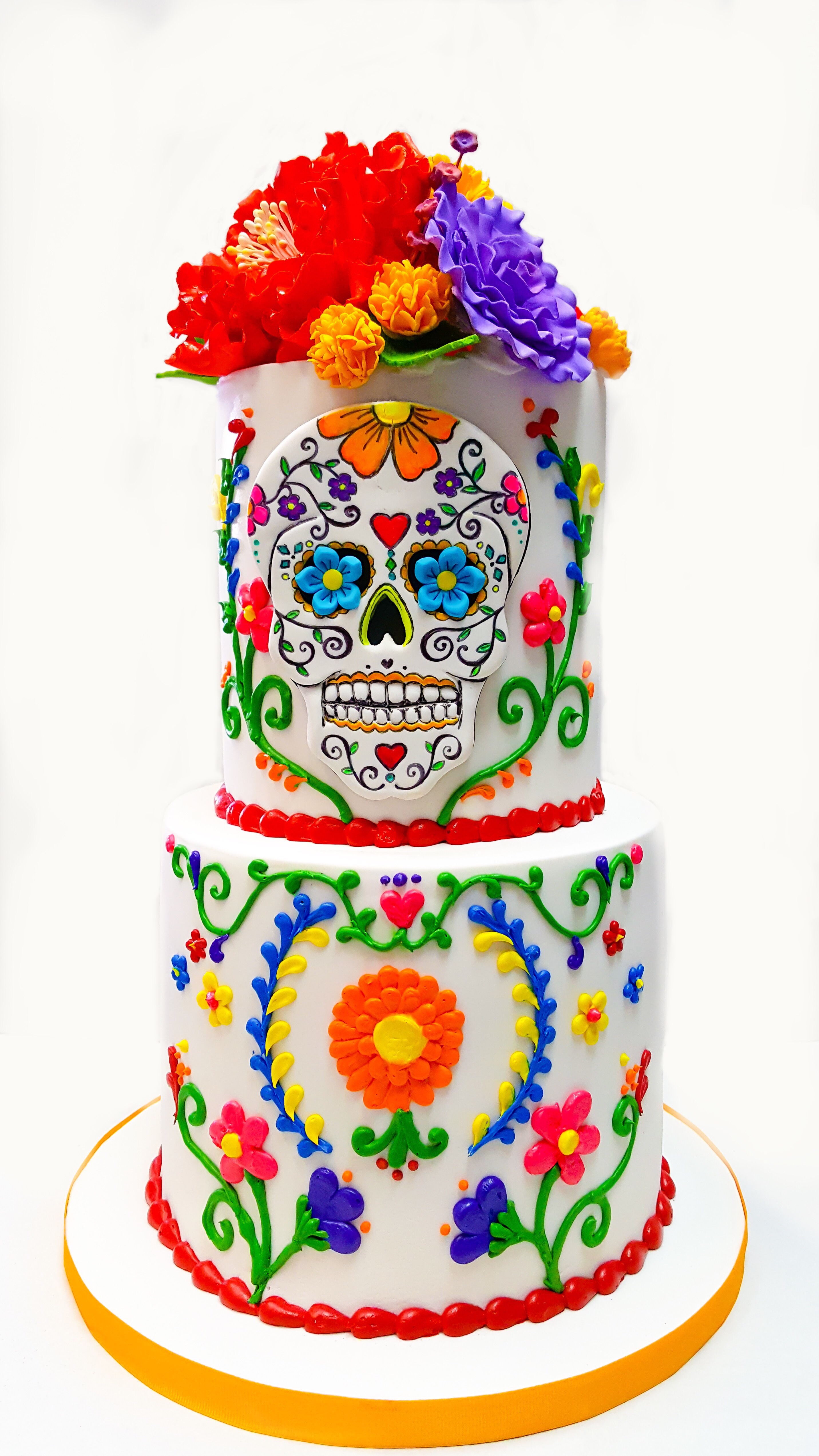 Day of the dead themed cake