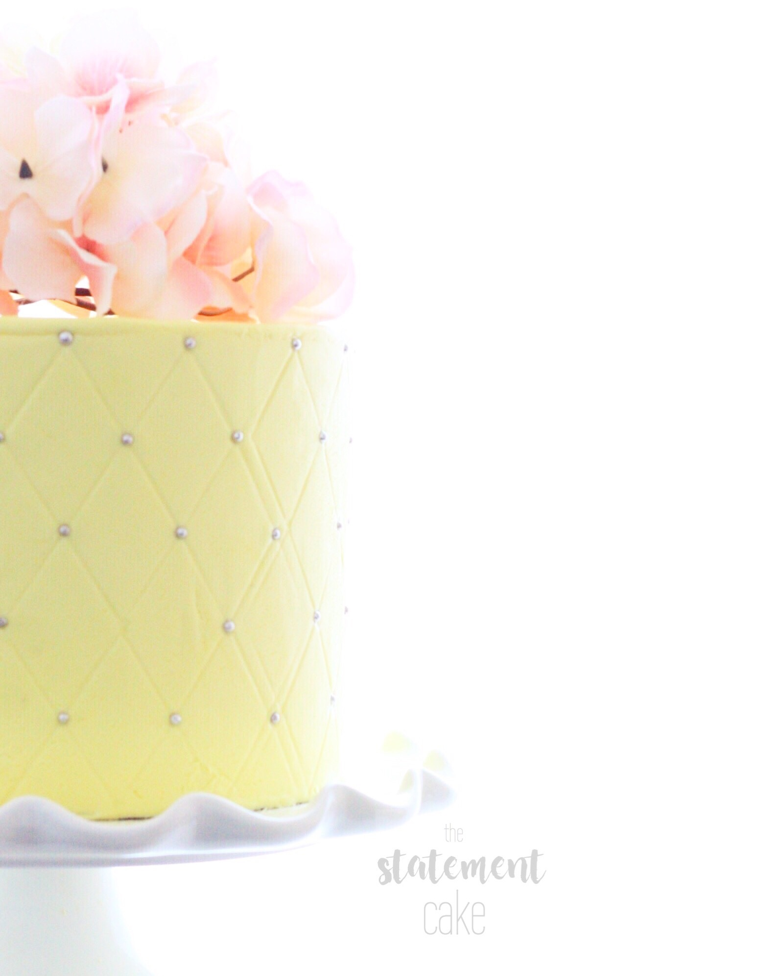 Yellow Mini fondant cake