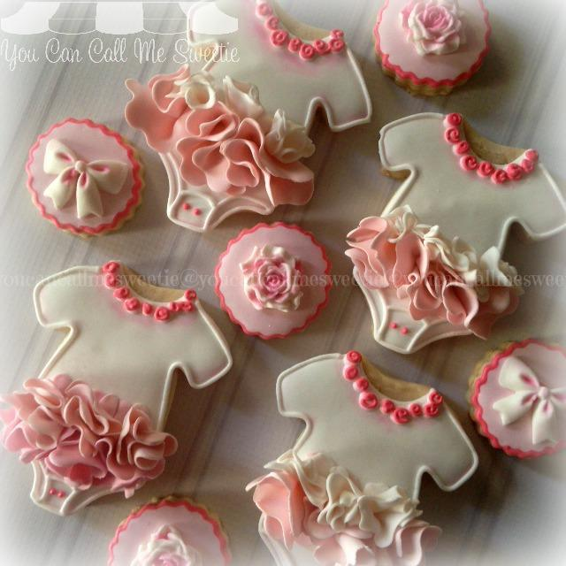 Tutu birthday girl fondant cookies