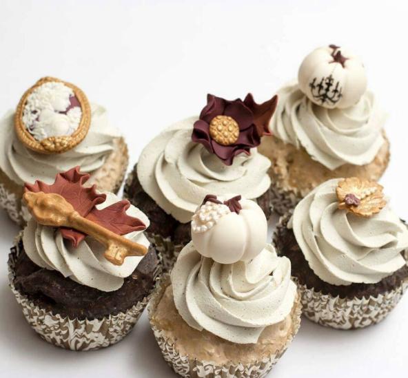 fall foliage cupcakes