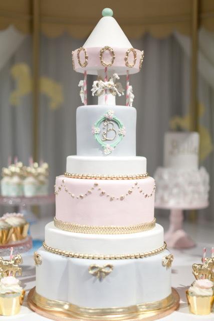 Carousel Baby Cake