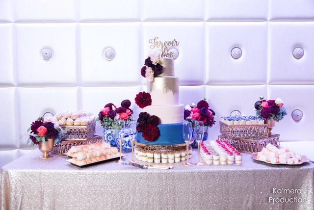 Silver & Blue Wedding