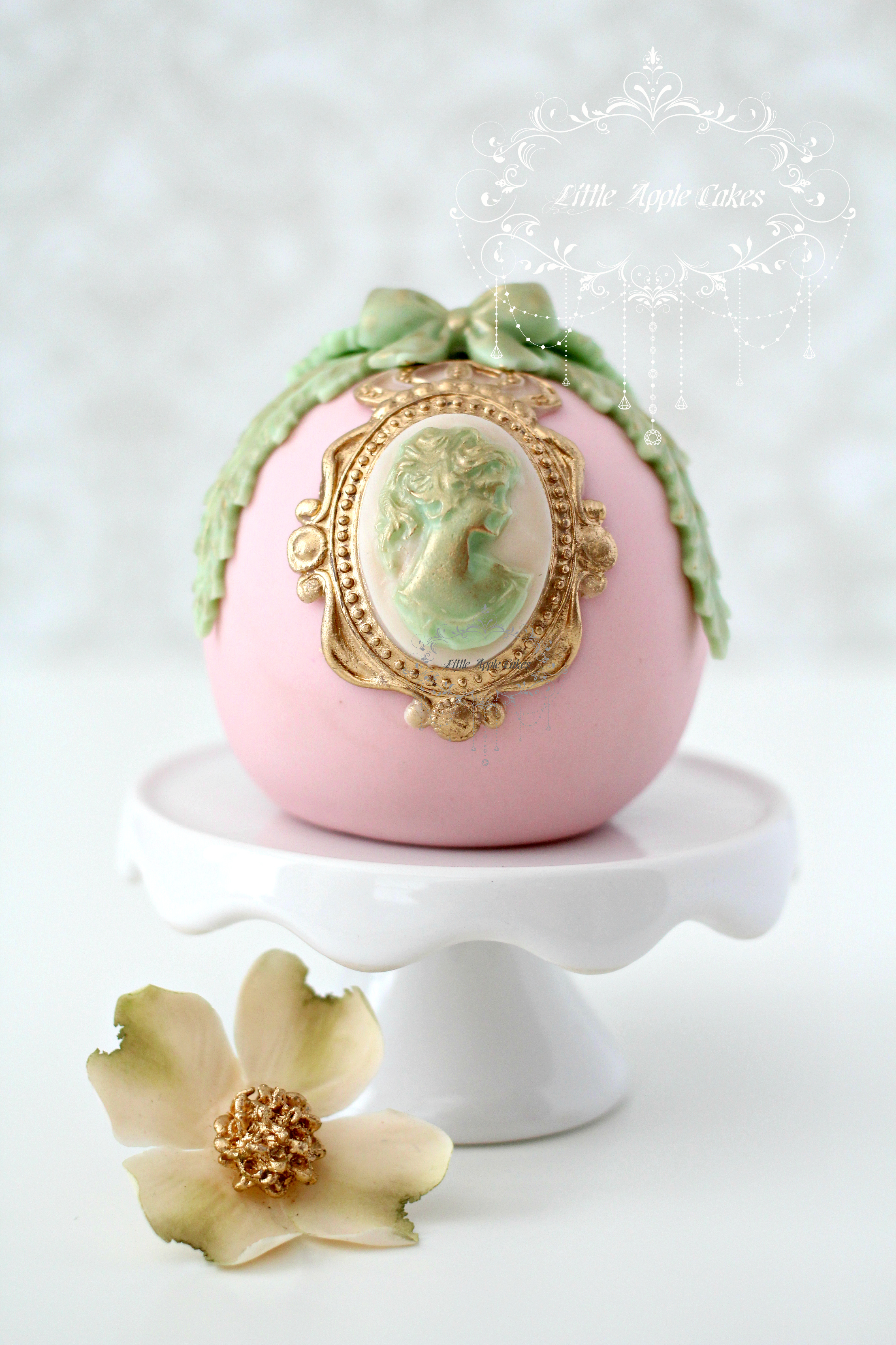 Victorian egg shaped cake