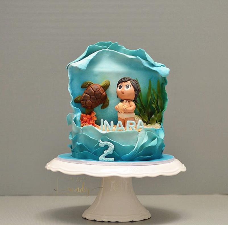 Moana fondant birthday cake