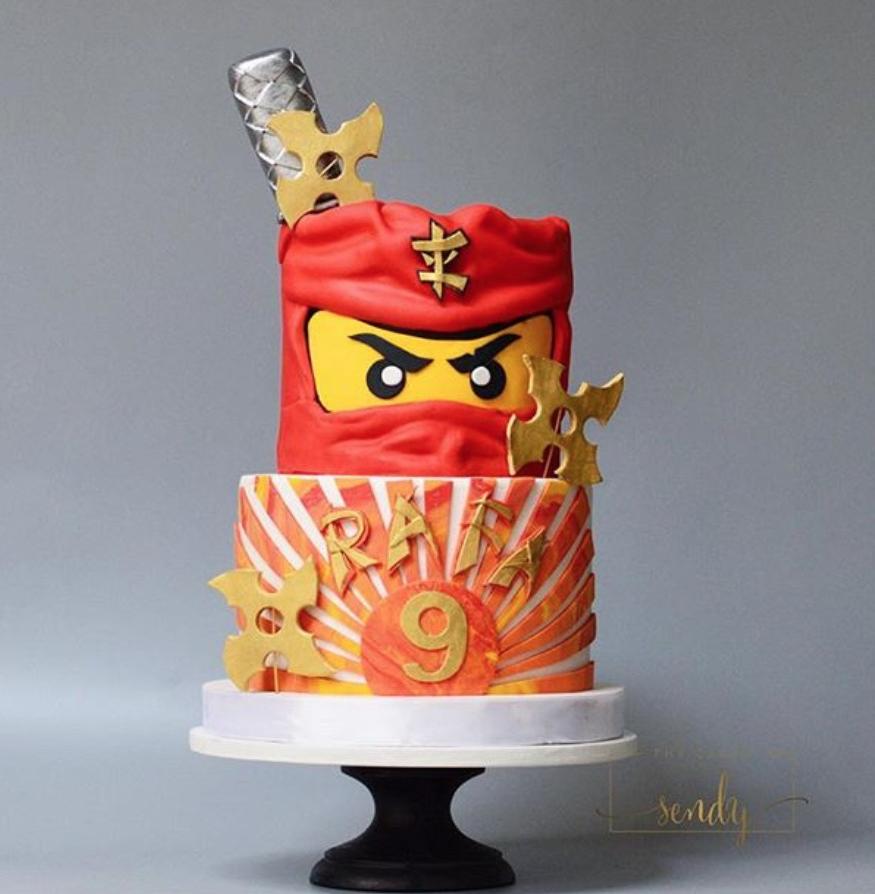 lego Ninjango fondant birthday cake