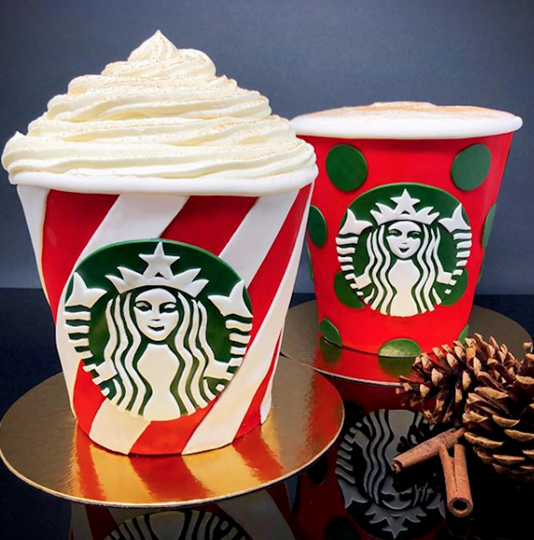 Starbucks holiday cup cake