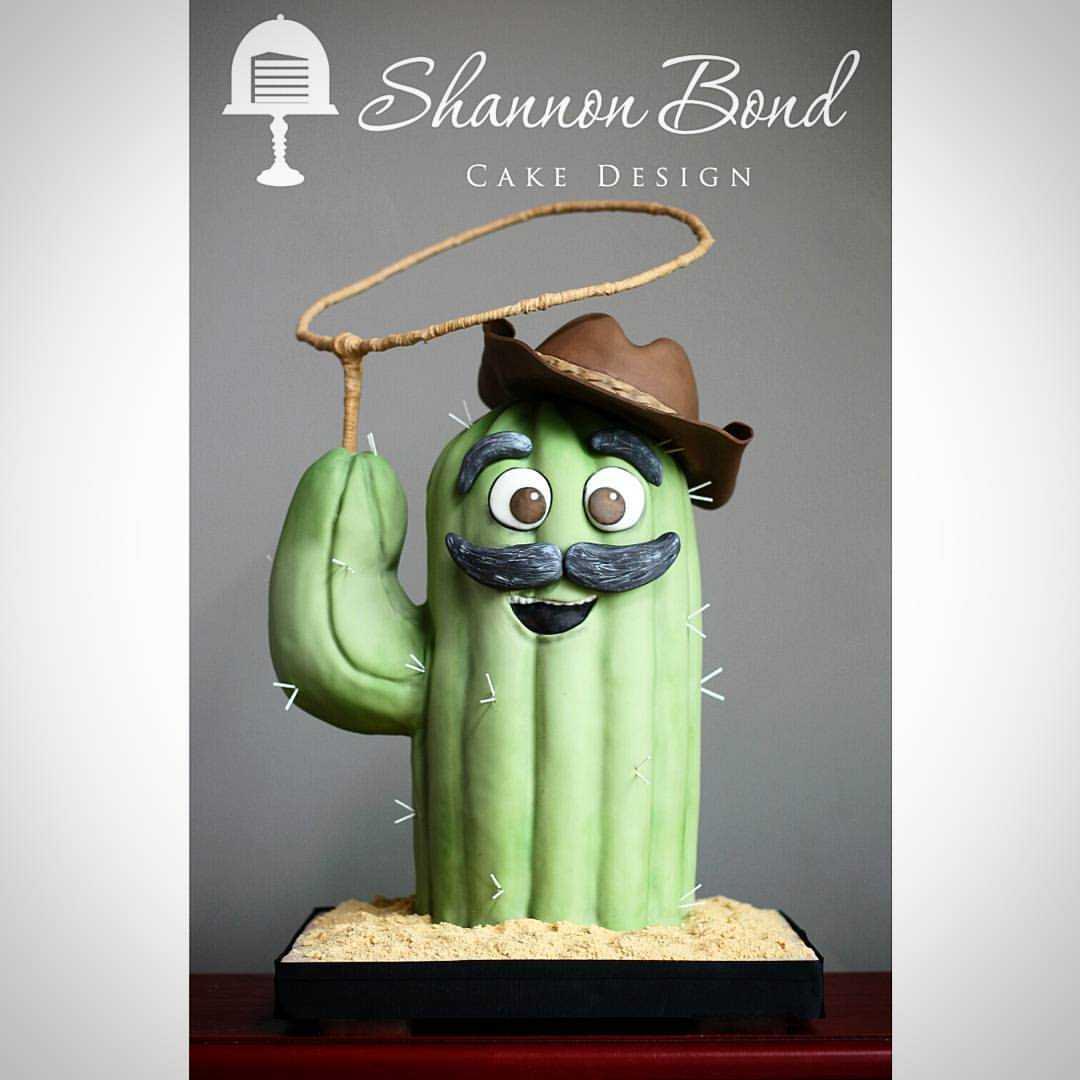 Cowboy cactus birthday cake