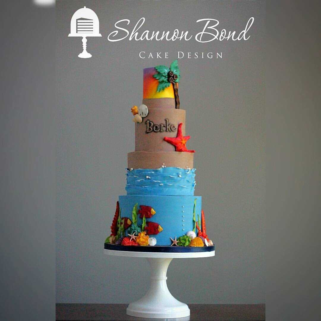 Under the sea themed birthday cake