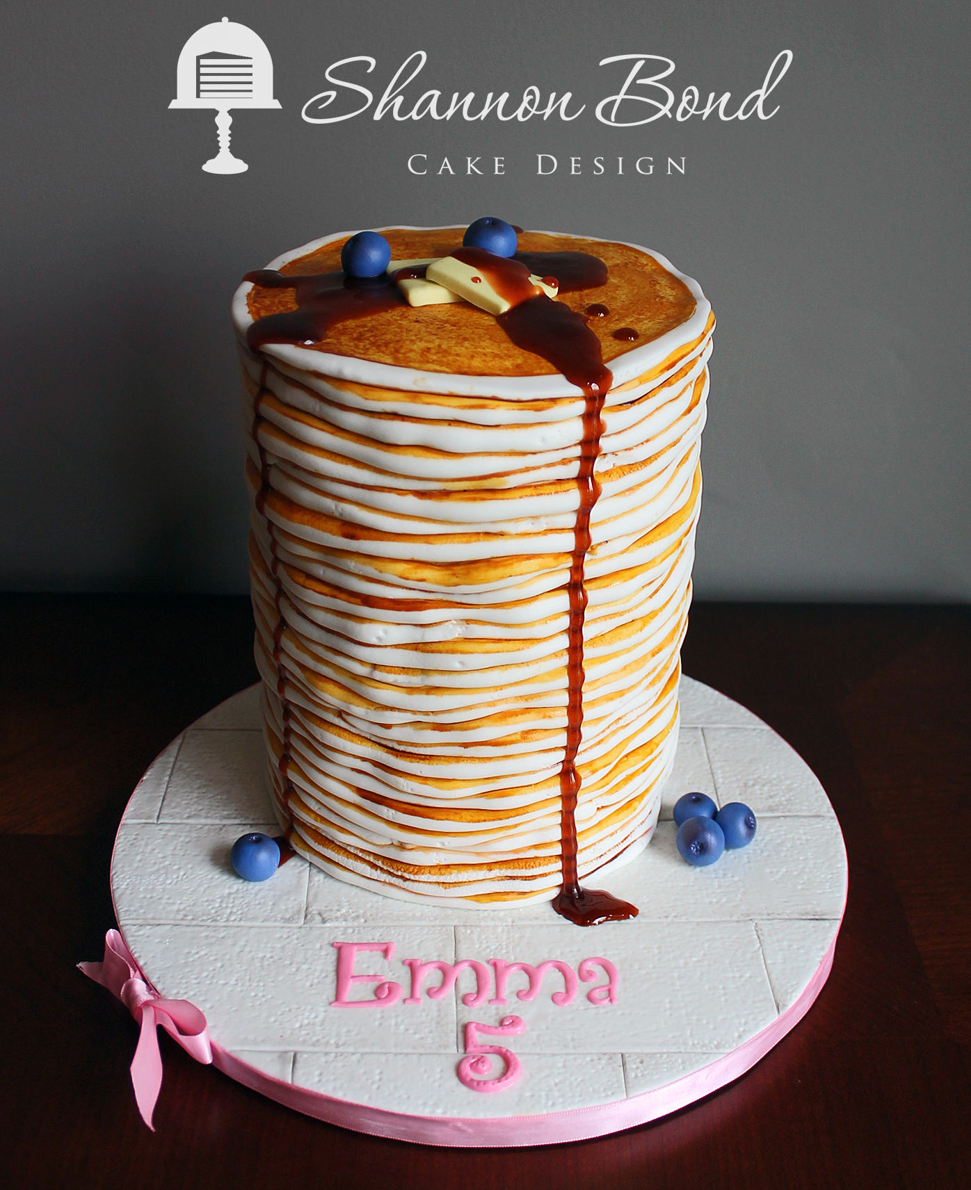 Stack of Pancakes fondant cake
